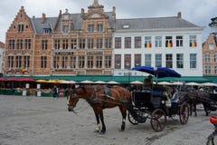 Horse coach in Calais Stock Photography