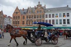Horse coach in Calais Stock Images