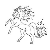 Horse without color vector illustration