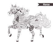 Horse. coloring book for adult Royalty Free Stock Photography