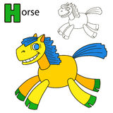 Horse. Coloring book page Royalty Free Stock Photo