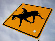 Horse Crossing Sign Stock Image