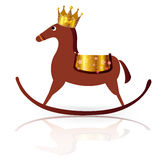 Horse Crown New Year s card. Background illustration of a beautiful New Years card Royalty Free Stock Images