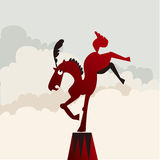 Horse dancing Royalty Free Stock Photos