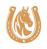 Horse dark emblem Stock Photo