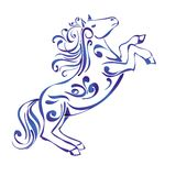 Horse  Decorative Ornament sketch Stock Images