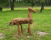 Horse, decorative straw sculpture Stock Photography