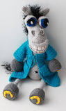 Horse Demian. Cheerful Toy knitted Royalty Free Stock Photos
