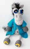Horse Demian. knitted toy Stock Images