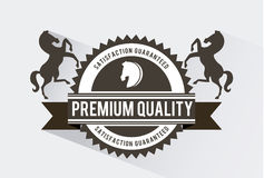 Horse design. Over white background vector illustration Royalty Free Stock Photos