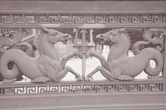 Horse Design on Schlossbrucke Bridge (1840) on Unter den Linden Stock Photos