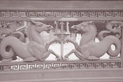Horse Design on Schlossbrucke Bridge (1840) on Unter den Linden Stock Photos