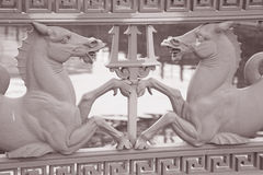 Horse Design on Schlossbrucke Bridge (1840) on Unter den Linden Royalty Free Stock Photos