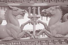 Horse Design on Schlossbrucke Bridge (1840) on Unter den Linden Royalty Free Stock Photos