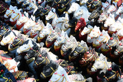 Horse dolls for offerings to Holy thing.  stock images