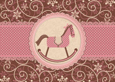 Horse and dotted background stock images