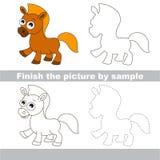 Horse. Drawing worksheet. Stock Image