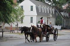Horse-drawn γύροι μεταφορών σε Williamsburg, Βιρτζίνια Στοκ Εικόνα