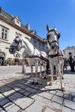 Horse-drawn μεταφορά - Βιέννη, Αυστρία Στοκ εικόνες με δικαίωμα ελεύθερης χρήσης