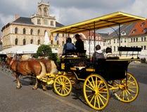 Horse-drawn μεταφορά σε Weimar Στοκ φωτογραφία με δικαίωμα ελεύθερης χρήσης