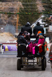 Horse-drawn γύρος βαγονιών εμπορευμάτων Στοκ Εικόνα