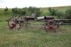 Ένα παλαιό horse-drawn αγροτικό βαγόνι εμπορευμάτων Στοκ φωτογραφία με δικαίωμα ελεύθερης χρήσης