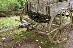 Ένα horse-drawn βαγόνι εμπορευμάτων που χρησιμοποιείται στις ημέρες πρωτοπόρων Στοκ Εικόνα
