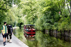 Horse drawn boat, Llangollen, North Wales Stock Photography