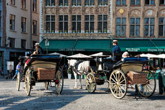 Horse drawn carraiges Royalty Free Stock Photo