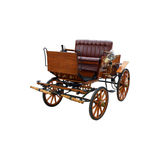 Horse Drawn Carriage. An isolated antique horse drawn carriage Stock Photos