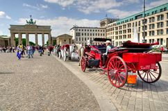 Horse-drawn carriage Royalty Free Stock Images