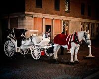 Horse Drawn Carriage, Boston, MA. Royalty Free Stock Photos