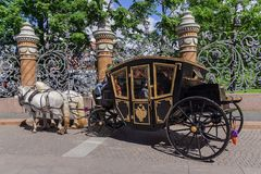 Horse-drawn carriage (carriage) - tourist transport in Saint Pet Stock Photo