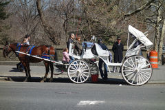 Horse-Drawn Carriage in New York City Stock Photos
