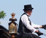 Horse Drawn Carriage Driver In K-Days Parade Stock Images