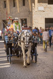 Horse drawn carriage Florence Royalty Free Stock Image