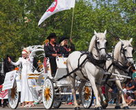 Horse Drawn Carriage In K-Days Parade Stock Photography