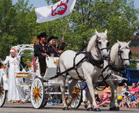 Horse Drawn Carriage In K-Days Parade Royalty Free Stock Photos
