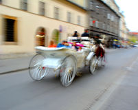 Horse-drawn carriage in Krakow, Poland Royalty Free Stock Image