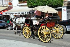 Horse drawn carriage, Mijas. Stock Photography