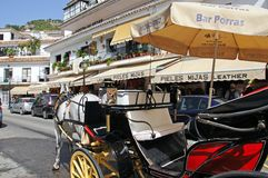 Horse drawn carriage, Mijas. Royalty Free Stock Images