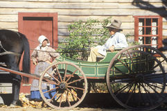 Horse drawn carriage in Old Sturbridge, Historic town in MA Royalty Free Stock Photo