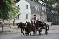 Horse-drawn carriage rides in Williamsburg, Virginia Stock Image
