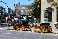 Horse drawn carriage, Seville, Spain. Royalty Free Stock Images