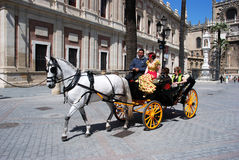 Horse drawn carriage, Seville. Royalty Free Stock Photo