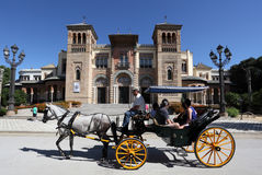Horse-drawn carriage in Seville Royalty Free Stock Images