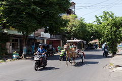 Horse drawn carriage in the streets of Manado Royalty Free Stock Image