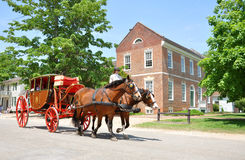 Horse drawn carriage tours in Williamsburg Royalty Free Stock Photo