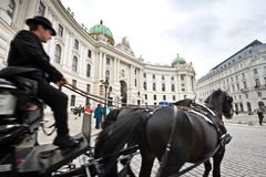 Horse-drawn carriage in Vienna Stock Photo