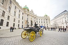 Horse-drawn carriage in Vienna Stock Photos
